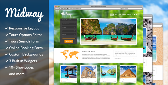 midway travel theme